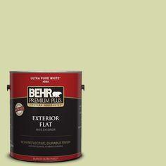 BEHR Premium Plus 1-gal. #410C-3 Celery Sprig Flat Exterior Paint