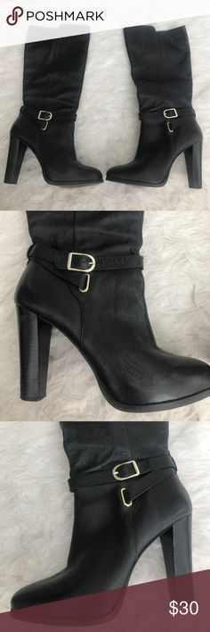 Long Black Boots No Heel