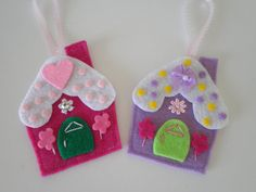 Wowsa these are big and eye catching dont you think? They are colorful and sweet and everything in between :) These precious ornaments make the perfect gift! but you will definitely want to grab a set for yourself!   Each flat gingerbread house ornament is handmade and finely detailed  Each house is aprox 3 inches tall and aprox 2- 2 1/2 inches wide. I promise you will love them so much you wont be able to put them down!  Im listing these early this season because once I get overloaded with…