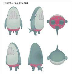 カナバングラフィックス最新作『イナズマデリバリー』のツボをおさえた画づくり! 〜背景&プロップ・レイアウト・ルックデヴ〜 | 特集 | CGWORLD.jp 3d Model Character, Character Concept, Concept Art, Mascot Design, Dog Design, Monster Illustration, Modelos 3d, Cartoon Design, Cute Characters