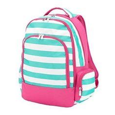 Girl School Backpacks Reinforced Design Water Resistant Backpack Pink Teal White #WB #Backpack