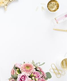 Shay Cochrane / In the shop: New pink and gold desktop Custom Website Design, Website Designs, Wall E, Flat Lay Photography, Prop Styling, Gold Style, Power Points, Pink And Gold, Iphone Wallpaper