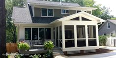 Screened Porch Designs, Screened In Porch, Front Porch, Side Porch, Bungalow Homes, Bungalow House Plans, Sunroom Addition, Building A Porch, Building Homes