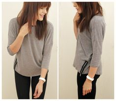 Falloutfit outfit of the day grey pullover