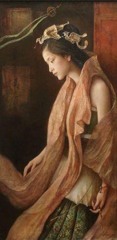 Artist Tang Wei Min , born 1971 in Yong Zhou, Hunan Province of China