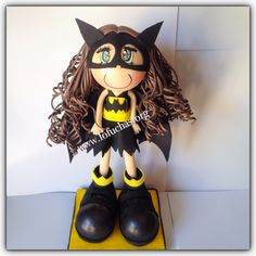Batman Girl fofucha doll. Can be used as centerpieces. Made using foam sheets…