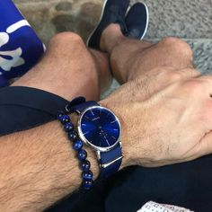 Cafe in Roma 🇮🇹 . Product shown: with the Blue Nylon Strap, paired with the Blue Tigers Eye Bracelet Handmade Bracelets, Handmade Jewelry, Tiger Eye Bracelet, Blue Tigers Eye, Italian Leather, Travel Style, Dapper, Beaded Jewelry, Watches For Men