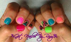 Neon Summer nails - get glowing Gelish collection  www.GetNailedByRoxy.com