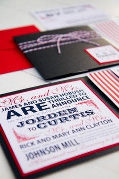 great wedding invitations playing off the patriotic season