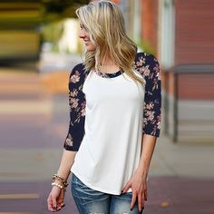 Floral Baseball Tee #DYT #Type2 http://audrey-iwascurious.blogspot.com/2011/03/dressing-your-truth-before-after-photos.html