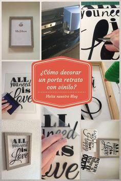 ¿Cómo decorar un porta retratos con vinilo?  Visita nuestro blog: http://www.ambidiextro.com/ambideas-como-decorar-un-porta-retrato-con-vinilo