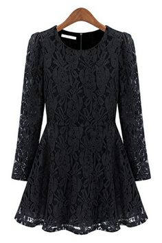 A-line Crocheted Lace Dress OASAP.com
