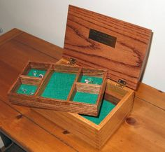 Walnut and reclaimed old growth fir jewelry box More Firs ideas