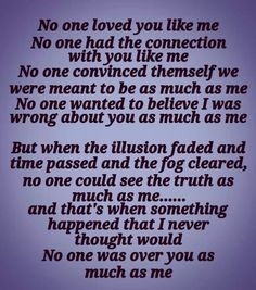 No one.... A Help for narcissistic sociopath relationship survivors♥A Recovery from Narcissistic sociopath relationship abuse
