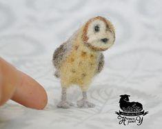 Hand made felt owl by HromovFelts