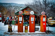 A gas station stuck in time...and they still will pump you gas...extraordinary!  (New Mexico)