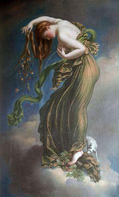 Anne Girodet de Roucy-Trioson (1767-1824,French) -Autumn, 19th Century.