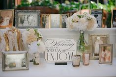 Want to get as many family wedding photos dating as far back as possible to display at our wedding. So cute and special Wedding Welcome Table, Wedding Table, Diy Wedding, Dream Wedding, Wedding Entrance Table, Wedding Photos, Wedding Ideas, Decor Wedding, Wedding 2017
