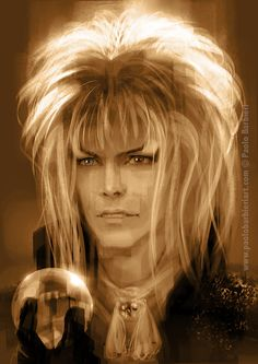 David Bowie tribute by Paolo Barbieri David Bowie Labyrinth, Labyrinth 1986, Labyrinth Movie, Labyrinth Tattoo, Dark Crystal Movie, David Bowie Tribute, Puffy Dresses, Labrynth, Goblin King