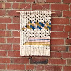 Woven macrame wall hanging / patchwork 2 by KateAndFeather on Etsy