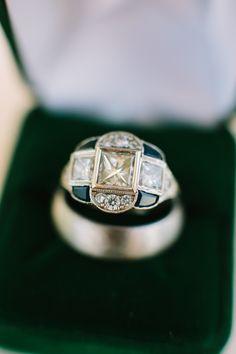 Modern engagement ring: http://www.stylemepretty.com/2017/04/27/spring-al-fresco-wedding/ Photography: Rachel Moore - http://www.rachelmoorephoto.com/