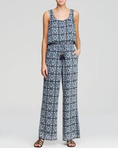 Tory Burch Laguna Jumpsuit Swim Cover Up