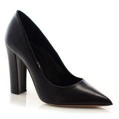 Γυναικείες Γόβες μαύρες δέρμα, Ελληνικής κατασκευής από γνήσιο δέρματα υψηλής ποιότητας στην εσωτερική και στην εξωτερική πλευρά.