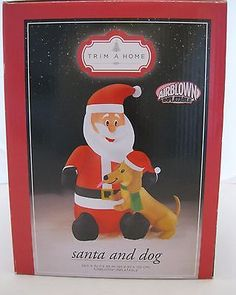 Santa and Dachshund Airblown Inflatable Yard Decoration for MWDR