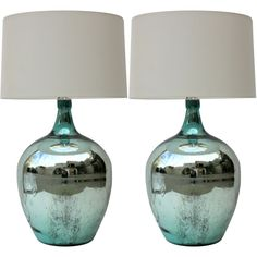 mercury glass lamps 31in tall