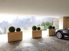 Exterior design with artificial bookballs from Dekohaus as a decoration idea on the terrace or in the garden - balcony Balcony Plants, Artificial Plants, Exterior Design, Planting, Outdoor, Decor, Environment, Patio, House