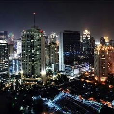 The big town In the night