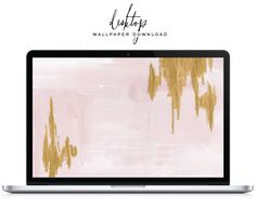 Pink and gold abstract desktop wallpaper, free for download