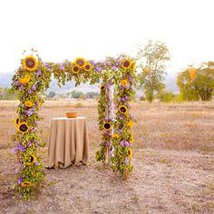 Sunflower Ceremony Decorations