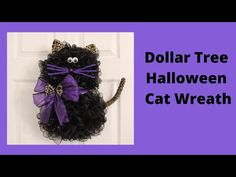 Dollar Tree Halloween Decor, Halloween Mesh Wreaths, Halloween Bows, Dollar Tree Crafts, Deco Mesh Wreaths, Halloween Pumpkins, Halloween Decorations, Halloween Ideas, Fall Decorations