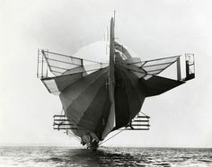 Zeppelin LZ 4 with many stabilizers, 1908.