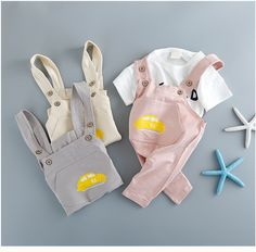 >> Click to Buy << kids baby clothes dress boy girl Children's clothing summer clothing strap set of children's casual wear children's clothing #Affiliate