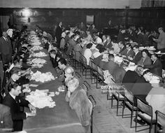 Counting the votes at Lambeth Town Hall during the General Election, 8th October 1959.