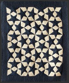 """Estrellas Escher"" quilt from Arte Patchwork. This seemingly complex design is actually made with 20 identical blocks."