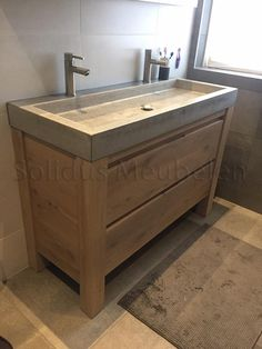 Bathroom diy sink cabinet ideas for 2020 Modern Bathroom Cabinets, Bathroom Mirror Cabinet, Rustic Cabinets, Wood Bathroom, Bathroom Wall Decor, Bathroom Storage, Bathroom Faucets, Bathroom Interior, Small Bathroom