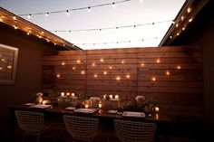 want strung lights in the backyard
