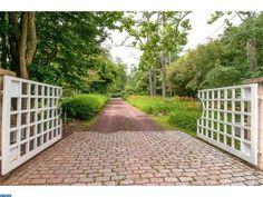 Weichert Princeton Brick Walkway, Beautiful Gardens, Outdoor Spaces, Outdoor Gardens, Sidewalk, Farmhouse, Yard, Landscape, Landscaping Ideas