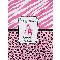 "Your baby shower memories will be cherished for generations to come! Our Baby Shower Keepsake Book features a ""Baby Keepsake Book"" headline on a pink spots and stripes background. Package includes one book. Measures 8""x6""."