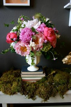 Mix of White, Pink and Coral Peonies