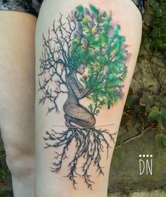 The tree of life tattoo - Modern Natur Tattoos, Kunst Tattoos, Body Art Tattoos, Tatoos, Tattoo Life, Tattoo You, Tree Of Life Tattoos, Roots Tattoo, Tattoo Skin