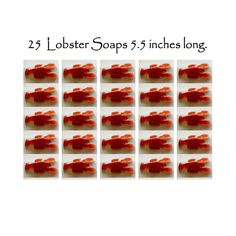25 Maine Lobster Soaps 5.5  inches long Party Favors