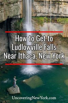 Ludlowville Falls near Ithaca, New York is one of the most beautiful and unique waterfalls in the Finger Lakes. Find out everything you need to reach it here. Ithaca Falls, Places To Travel, Places To Go, Giant Boulder, Buttermilk Falls, Fishing Times, Finger Lakes, Local Parks, Travel Reviews