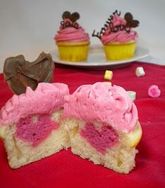 Valentine's Day Heart Cupcakes (and Truffles!)