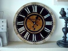 "Horloge rétro ""Empire Winery"" : 16.90 € Diamètre : 30 cm"