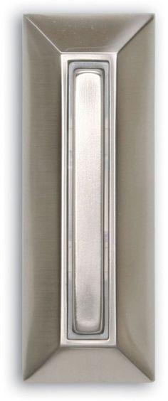 Mediterranean Bronze Wired Lighted Door Bell Push Button W// Solid Metal Plate
