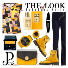 """Geometric Prints"" by diamond-mara ❤ liked on Polyvore featuring Chloé, Dr. Martens, Bally, Max Factor, Shiseido and Acqua di Parma"